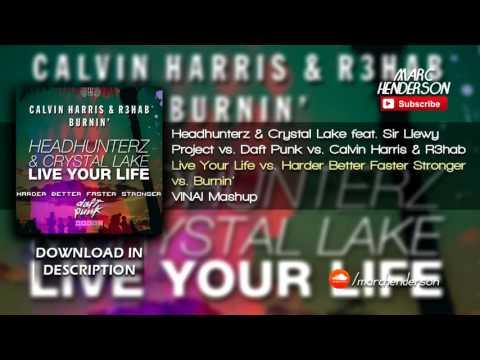 Headhunterz Vs. Calvin Harris - Burnin' Your Life Harder, Better, Faster And Stronger (VINAI Mashup)