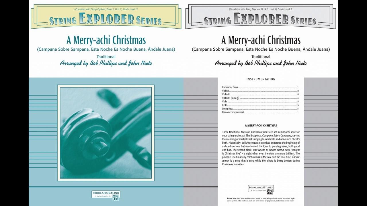 A Merry achi Christmas, arr. John Nieto and Bob Phillips – Score