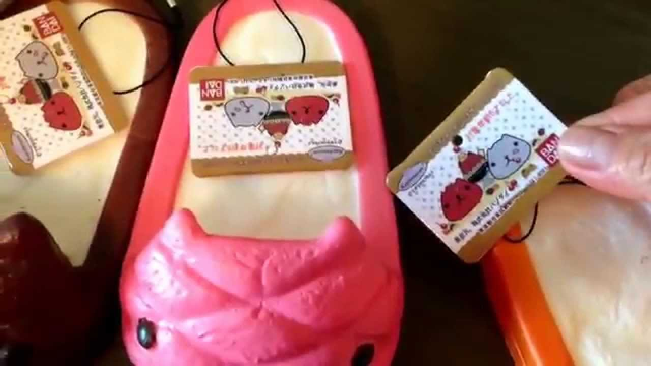 Squishy,kawaii squishy, rare breadou bread loaf, kapibarasan slipper