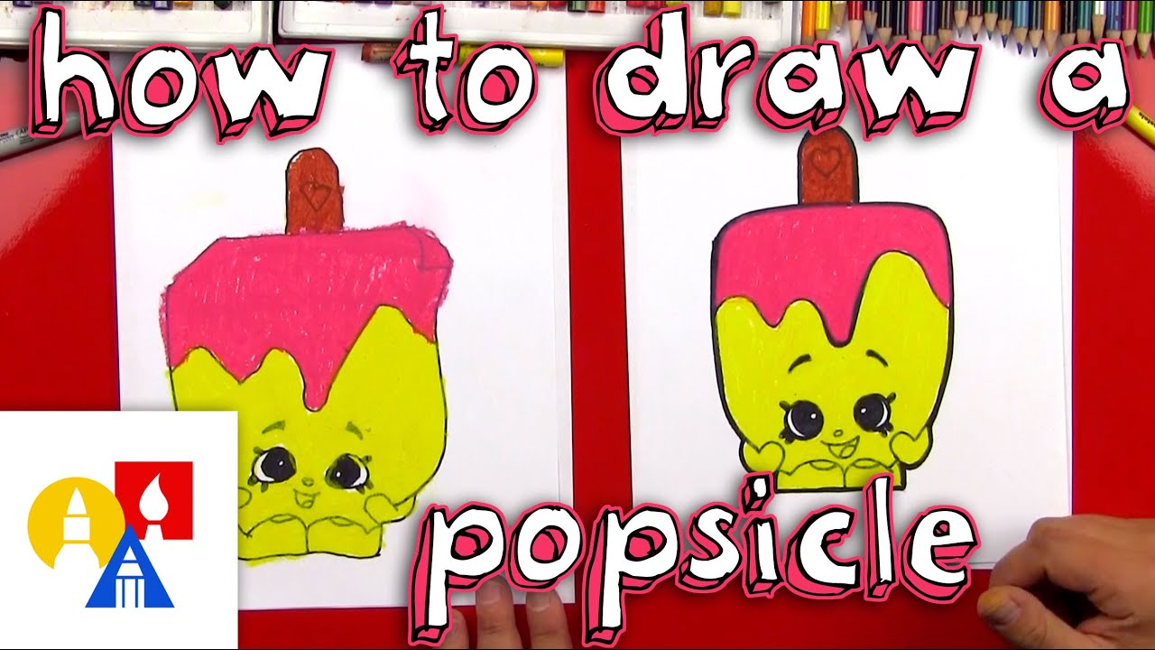Uncategorized Art Pictures For Kids To Draw how to draw a popsicle shopkins youtube