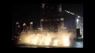 Dubai Mall Fountain - Wen Bie Song (Jacky Cheung)