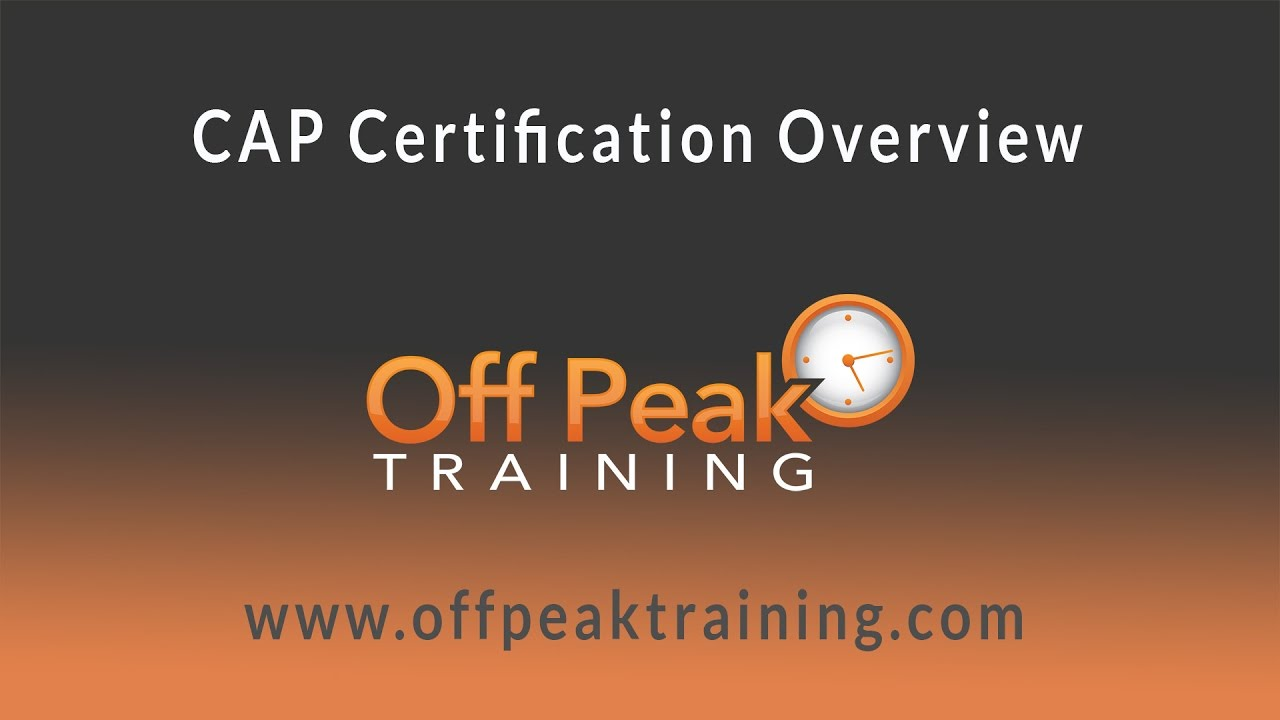 Cap Certification Overview Youtube