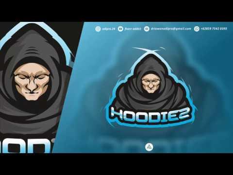 hoodiez-esports-logo---design-process---coreldraw-x8