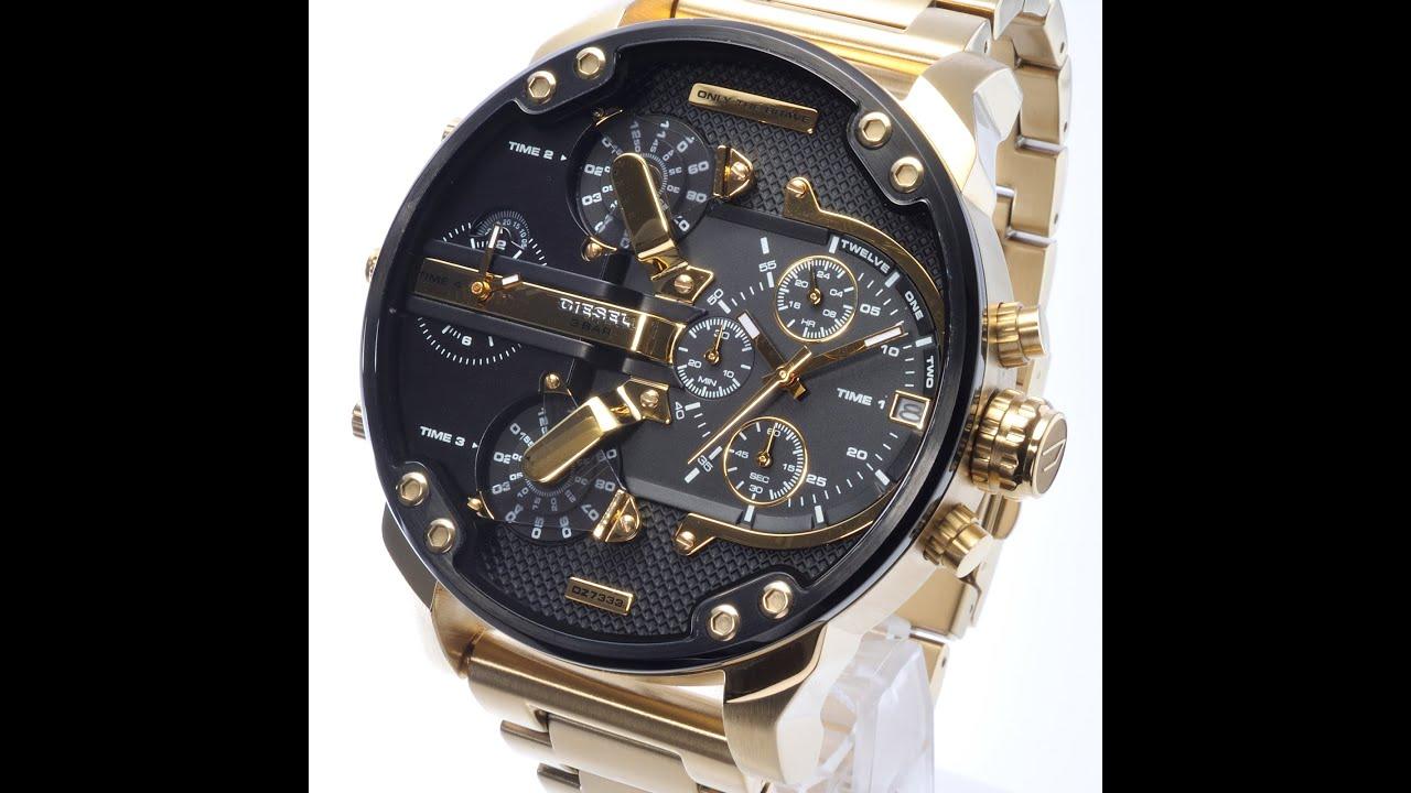 diesel dz7333 watch mrdaddy 20 goldtone black dial