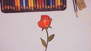 Как нарисовать розу. Учимся рисовать цветы красками