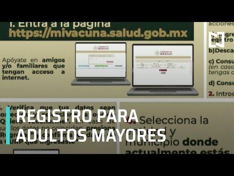 Página para registrar a los adultos mayores por vacuna contra COVID-19 - Despierta