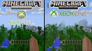 Minecraft Xbox One Edition VS. Xbox 360 - SCREENSHOT! COMPARISON + PS3/PS4 + MORE!