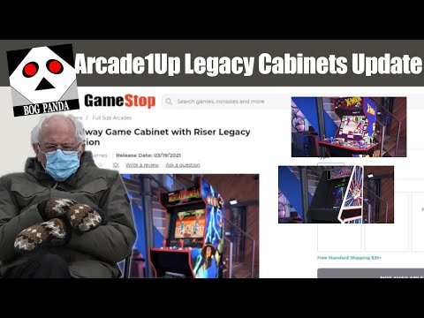Arcade1Up Legacy cabinets update and intro to the Berniebot!! from Bog Panda