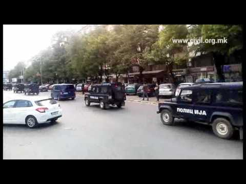 Armored police vehicles, Skopje, Macedonia, now (#unrest)