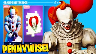 WHEN WILL THE PENNYWISE SKIN IN THE FORTNITE STORE❓ FORTNITE X IT CHAPTER 2 🎈