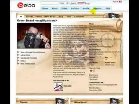 bebo social network site youtube