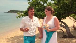Свадебная церемония на яхте возле островов сиамского залива