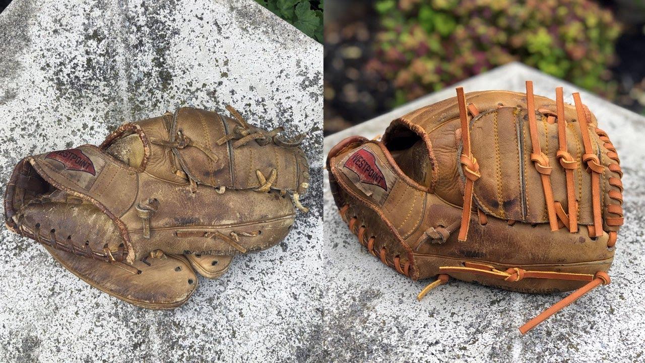 Antique Baseball Glove Restoration Youtube