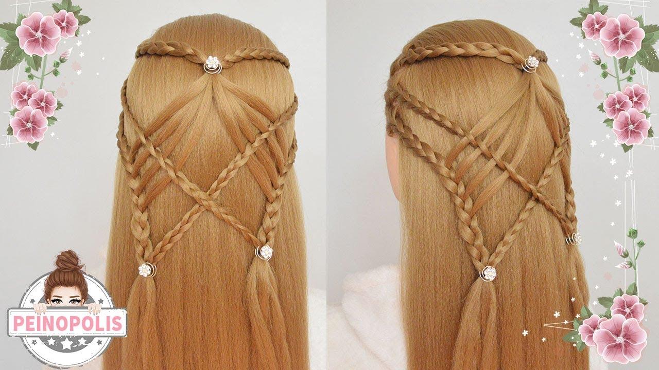 Peinados De Trenzas Con Cabello Suelto Semirecogidos Para Ninas - Peinados-cabello-suelto