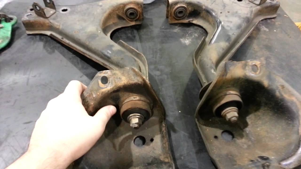 What bad control arm bushings sound like on a 1991 Volvo 240... - YouTube