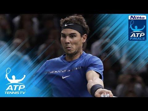 Rafa Nadal pair of brilliant backhands vs Goffin | Nitto ATP Finals 2017