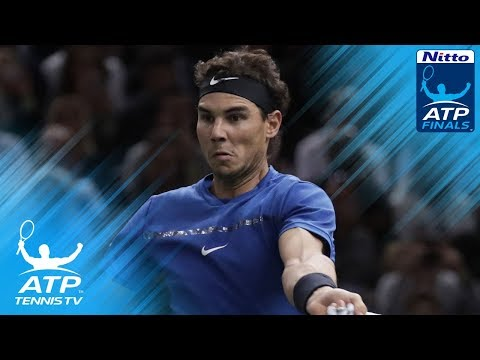 Rafa Nadal pair of brilliant backhands vs Goffin | Nitto ATP Finals 2017