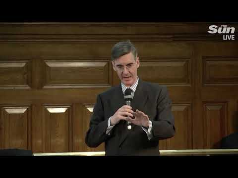 Rees-Mogg takes questions from the press