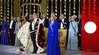 Willem-Alexander leistet Amtseid als neuer König der Niederlande