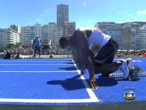 Usain Bolt wins 150m race in Rio de Janeiro - 14.42