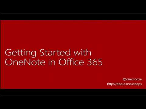Getting Started with OneNote in Office 365