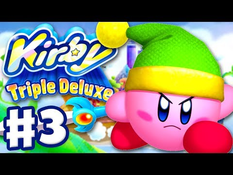 Kirby Triple Deluxe - Gameplay Walkthrough Part 3 - Level 3 Old Odyssey (Nintendo 3DS)