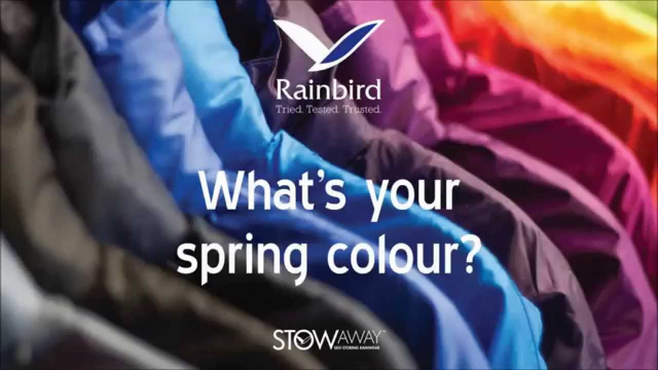 58cef9565 Rainbird - Stowaway Jacket Spring Colours - YouTube