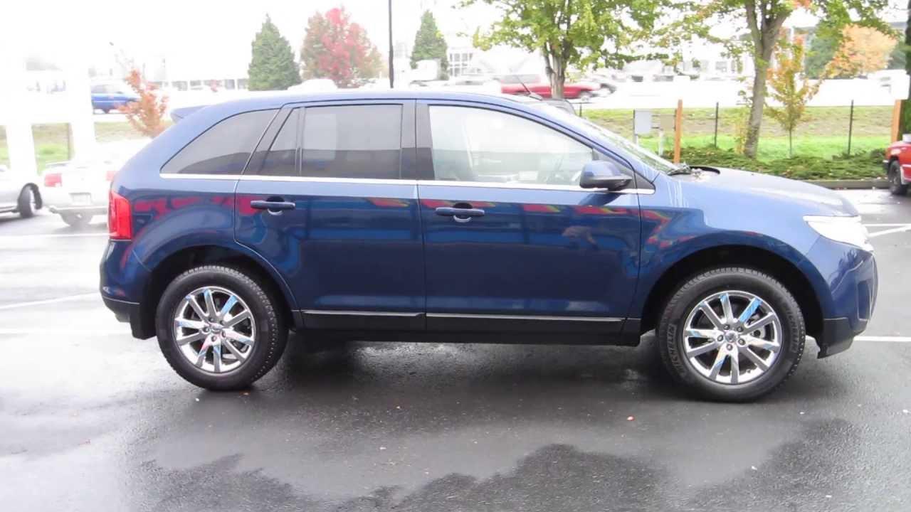 2012 Ford Edge Dark Blue Pearl Metallic Stock 731202 Youtube