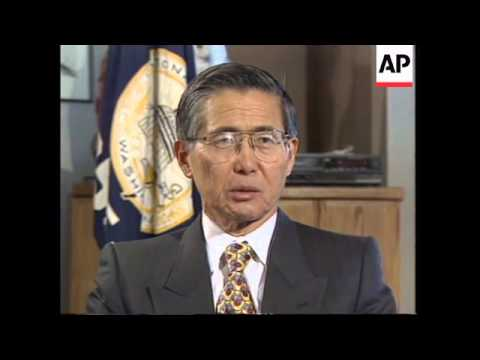 USA: WASHINGTON: PERUVIAN PRESIDENT ALBERTO FUJIMORI INTERVIEW