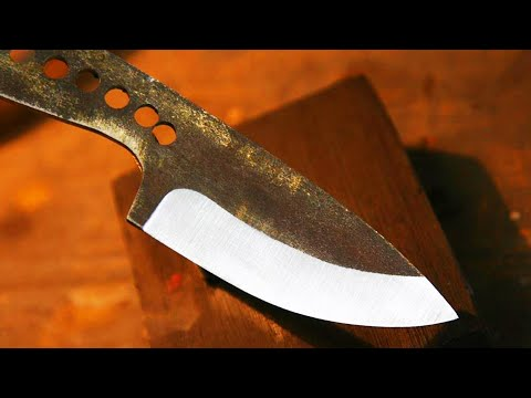 Knifemaking - How to make a knife bevel