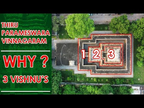 Ancient Temple with Unique Architecture - Tiru Parameswara Vinnagaram (Vaikunta Perumal Temple)