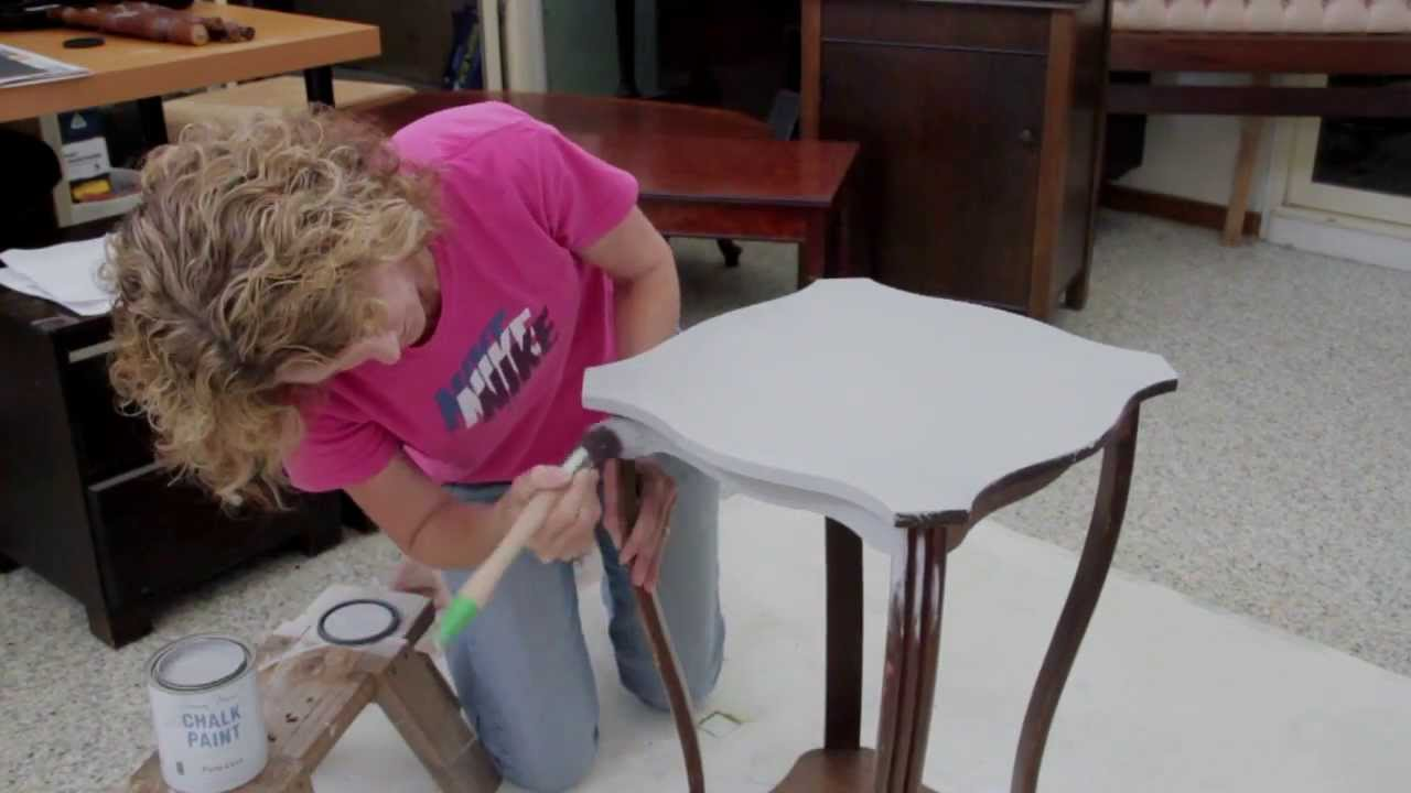 Chalk Paint For Furniture ... with ASCP - Annie Sloan's Chalk Paint for the First Time - YouTube