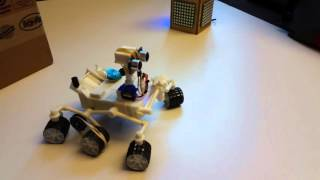 Arduino Mars Curiosity Rover navigating obstacles
