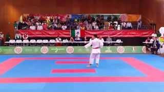Semifinal Male Kata Waldo Ramirez (Mex) Kanku Sho Juegos Centroamericanos Veracruz 2014