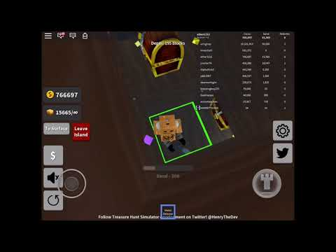 Making 2M Coins In Treasure Hunt Simulator With The Medal Detector