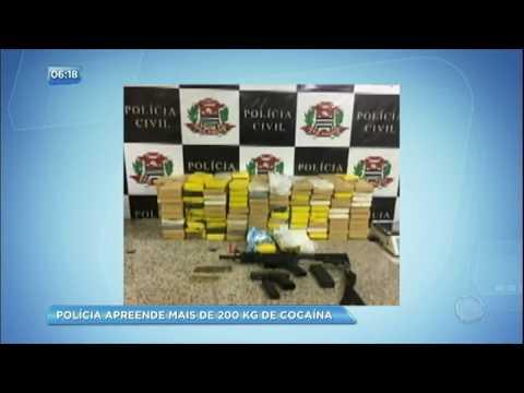 Polícia apreende mais de 200 kg de cocaína em São Paulo