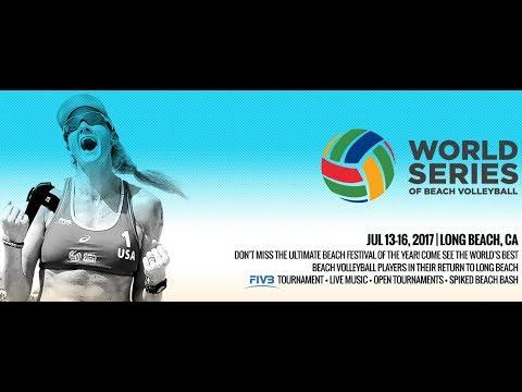 2017 ASICS WSOBV Long Beach Women's Pool Play USA Fendrick & Ross vs USA Larsen & Flint
