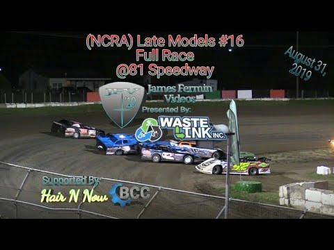 (NCRA) Late Models #16, Full Race, 81 Speedway, 08/31/19