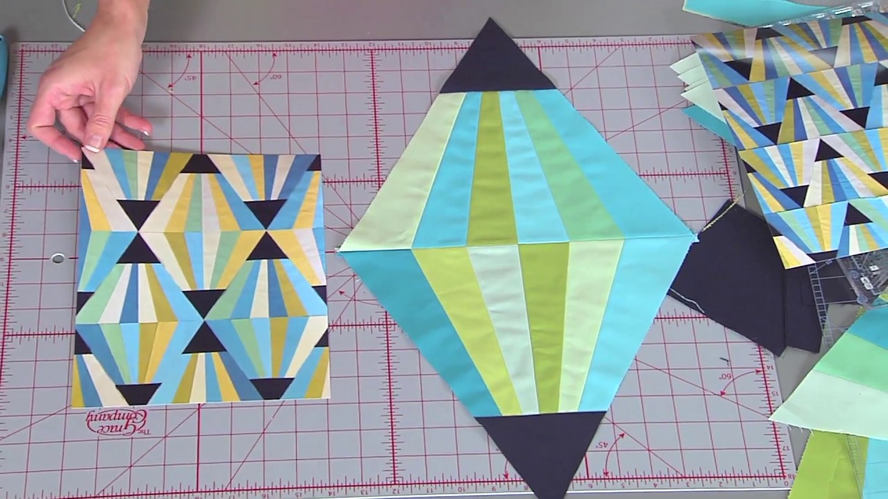 Magic Triangle Block On Fresh Quilting Youtube