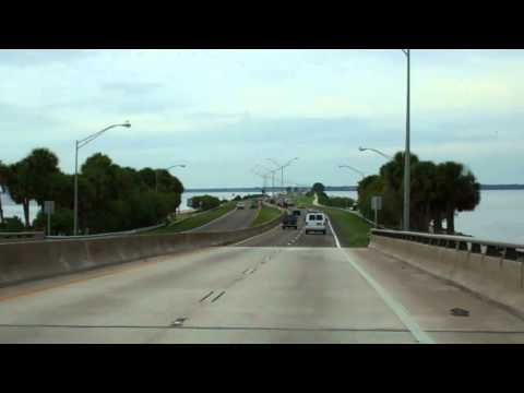 Courtney Campbell Causeway In Tampa Bay, Florida Towards Clearwater