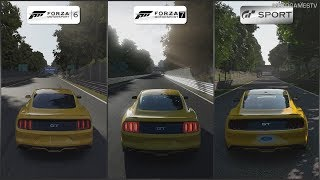 Forza 6 vs Forza 7 vs GT Sport - 2015 Ford Mustang GT at Monza