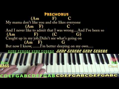 Love Yourself (Justin Bieber) Piano Cover Lesson in C with Chords ...