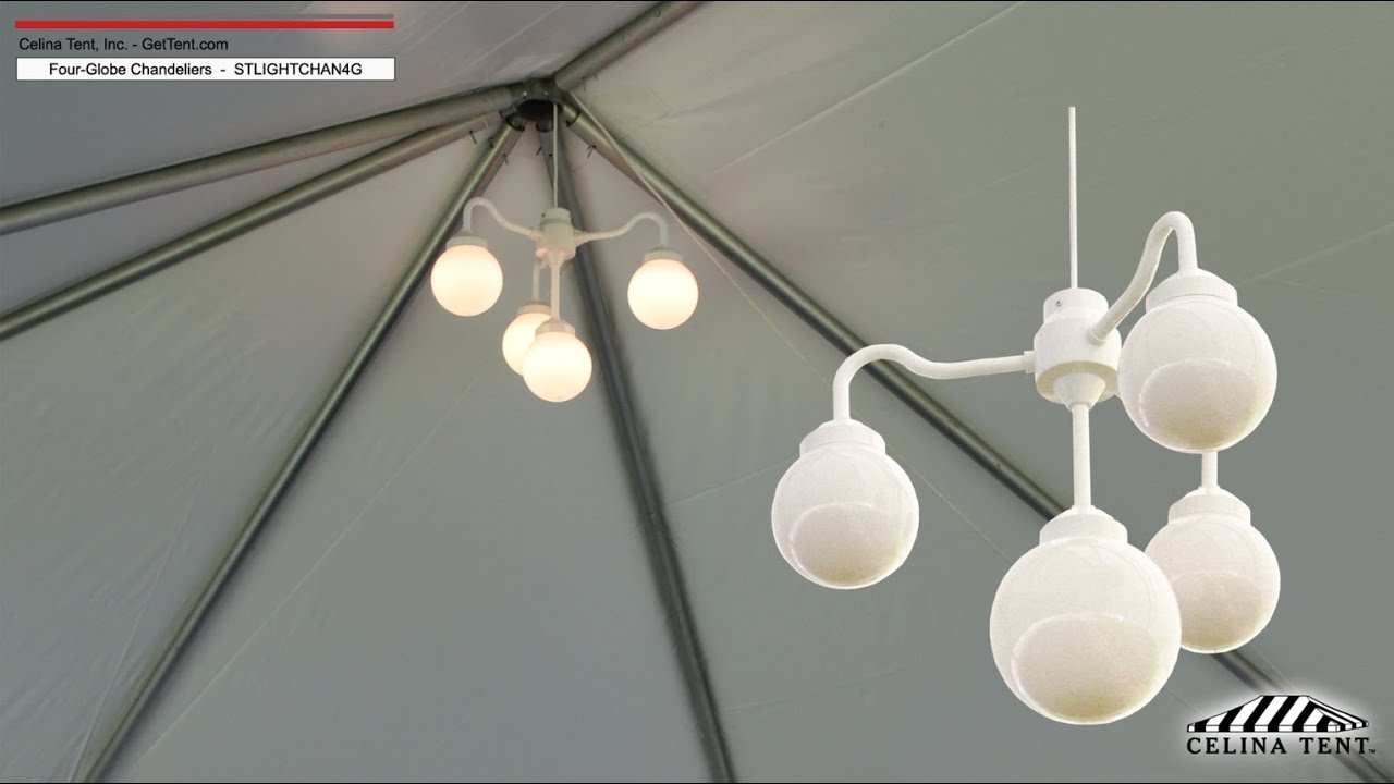 Four globe party chandelier youtube four globe party chandelier aloadofball Choice Image