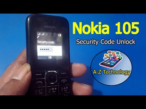 Nokia 105 Security Unlock | Nokia 105 Password Unlock Code