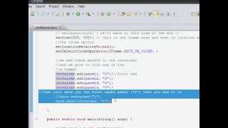 Java Tutorial (How to create a dinamically changing JPanels in one JFrame)
