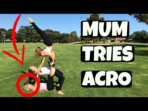 MUM and TWINS try acro gymnastics together | The Rybka Twins