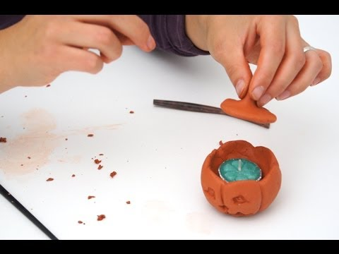 Lavoretti per halloween come realizzare un portacandela a for Youtube lavoretti per bambini