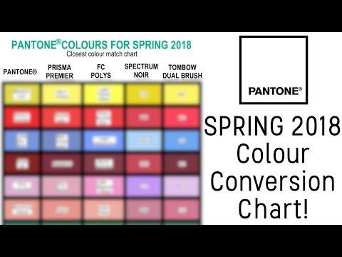 Pantone® Spring 2018 Colour Conversion Chart!