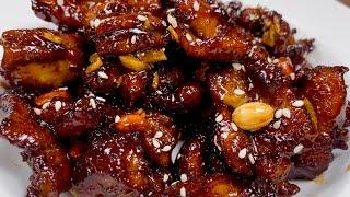 हनी गार्लिक चिकन | Crispy Honey Garlic Chicken | Sweet Honey Glazed Chicken recipe | Chicken recipe