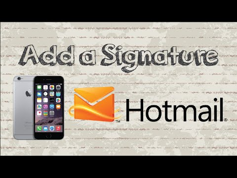How To Add A Signature In Outlook / Hotmail | Mobile App (Android & Iphone)